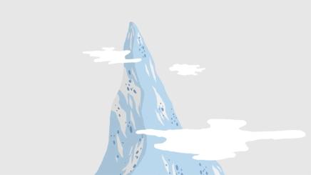 image de la montagne du film d'animation LE SOMMET BLEU