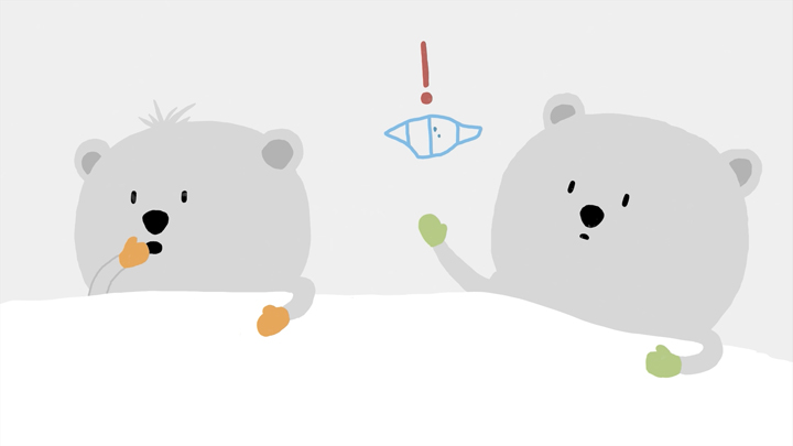 image des oursons du film d'animation LE SOMMET BLEU