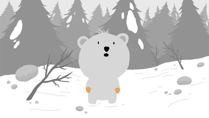 image d'un des oursons du film d'animation LE SOMMET BLEU