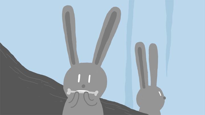 image des lapins du film d'animation LE SOMMET BLEU